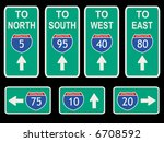 american interstate signs with... | Shutterstock . vector #6708592