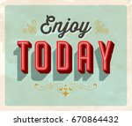 vintage style inspirational... | Shutterstock .eps vector #670864432