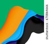 3d vector abstract background... | Shutterstock .eps vector #670864666
