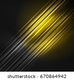 glowing futuristic lines in the ... | Shutterstock .eps vector #670864942