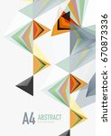 triangular low poly a4 size... | Shutterstock . vector #670873336