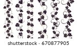 set of seamless ornaments with... | Shutterstock .eps vector #670877905