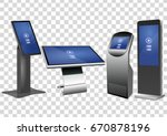 set of promotional interactive... | Shutterstock .eps vector #670878196