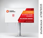 billboard banner design  red... | Shutterstock .eps vector #670878535