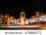 Small photo of Chaotic Aberration - Mumbai CST with a blend of rushing traffic.