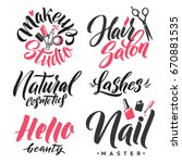 logo beauty vector lettering.... | Shutterstock .eps vector #670881535