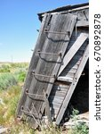 an old abandoned  wooden boxcar ... | Shutterstock . vector #670892878