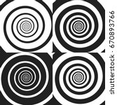set of psychedelic spiral with... | Shutterstock .eps vector #670893766