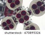 Detail Of Space Rocket Engine....