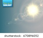 sun isolated on transparent... | Shutterstock .eps vector #670896052