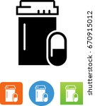 pill bottle icon | Shutterstock .eps vector #670915012
