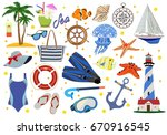 vector color collection of... | Shutterstock .eps vector #670916545
