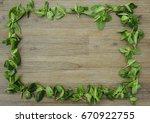 rectangle shape frame made of... | Shutterstock . vector #670922755
