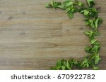 frame made of orach saltbush... | Shutterstock . vector #670922782