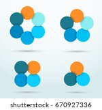 infographic circle segments... | Shutterstock .eps vector #670927336