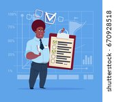 african american business man... | Shutterstock .eps vector #670928518