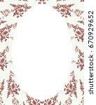 white circle frame background... | Shutterstock . vector #670929652