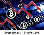 bitcoin currency crisis  ... | Shutterstock . vector #670950196