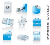 finance and banking icons   Shutterstock .eps vector #67095310