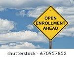 caution sign blue sky... | Shutterstock . vector #670957852