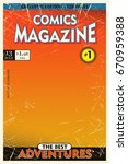 old comic book cover. gradient... | Shutterstock .eps vector #670959388