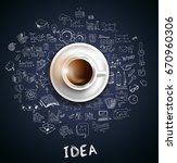 infograph background template... | Shutterstock .eps vector #670960306
