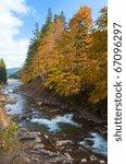 Rocky Autumn Mountain River An...