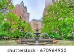 Fountain In City Hall Park In...