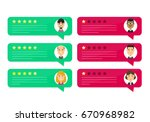review rating bubble speeches.... | Shutterstock .eps vector #670968982