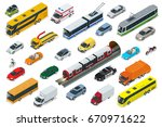flat 3d isometric high quality... | Shutterstock .eps vector #670971622