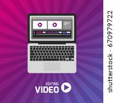 video production computer... | Shutterstock .eps vector #670979722