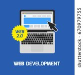 web development laptop icon....