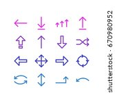 vector illustration of 16 sign... | Shutterstock .eps vector #670980952