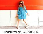 Fashion Little Girl Child In A...