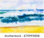 Watercolor Seascape Original...