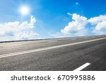 asphalt road and sky cloud... | Shutterstock . vector #670995886