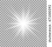 glowing light effect on... | Shutterstock . vector #671000392