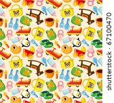 seamless baby pattern | Shutterstock .eps vector #67100470