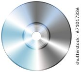 compact disc isolate on white... | Shutterstock . vector #671017336