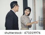 asian woman working  with... | Shutterstock . vector #671019976