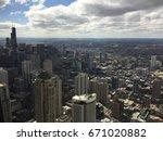 chicago cityscape | Shutterstock . vector #671020882