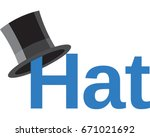 top hat vector illustration.... | Shutterstock .eps vector #671021692