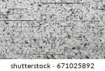 part of white painted brick... | Shutterstock . vector #671025892
