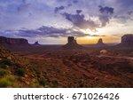 monument valley park  arizona... | Shutterstock . vector #671026426
