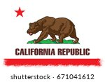 the flag of california. the... | Shutterstock . vector #671041612