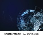 global network connection....   Shutterstock .eps vector #671046358