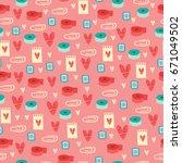 vector seamless pattern.... | Shutterstock .eps vector #671049502