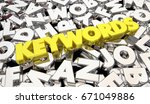 keywords letters descriptive... | Shutterstock . vector #671049886