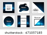 abstract vector layout... | Shutterstock .eps vector #671057185
