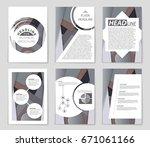 abstract vector layout...   Shutterstock .eps vector #671061166